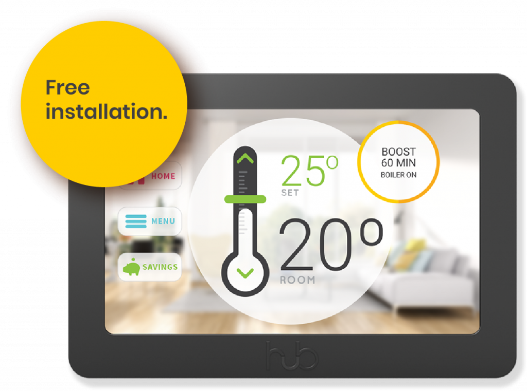 Hub Controller heating controls with free installation