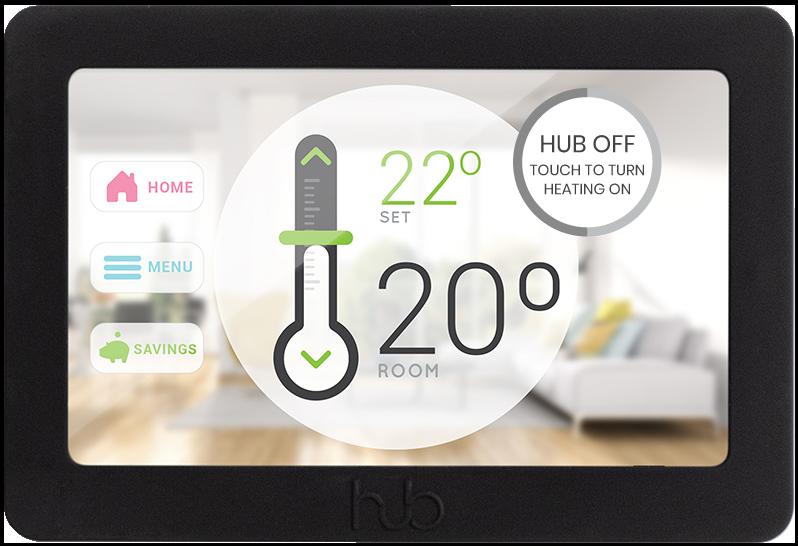 Hub Controller home screen